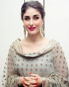 Most Beautiful Bollywood Actress Pakistani Dresses, Indian Dresses, Indian Outfits, Punjabi Dress, Pakistani Suits, Indian Clothes, Salwar Designs, Kurti Designs Party Wear, Blouse Designs