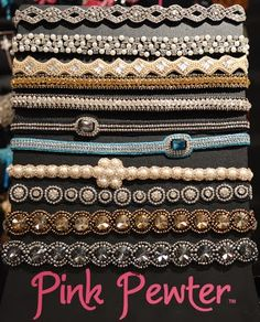 Love the headbands by Pink Pewter! Get yours today at ... Golds, whites, blacks