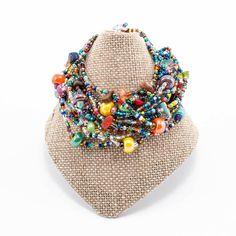 Beach Ball Beaded Bracelet - Multi - Lucias Imports (J)