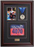 Triumph Marathon and Triathlon Photo Finishing Medal and Race Bib Framing Kit  Library Mahogany
