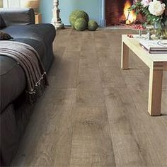 Quick-Step Perspective 'Old Oak Matt Laminate Flooring The Quick-Step Perspective Range has a destictive 'bevelled' edge. Giving a depth and quality appearance to a highly durable laminate flooring. Laminate Flooring, Hardwood Floors, Quick Step Flooring, Home Reno, Plank, Sweet Home, New Homes, Interior Design, Perspective