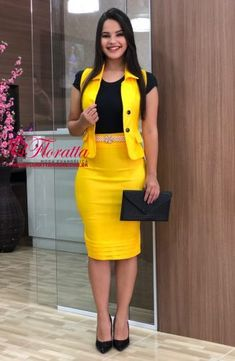 Floratta Modas - Moda Evangélica - A Loja da Mulher Virtuosa Casual Work Outfits, Classy Outfits, Elegant Dresses, Casual Dresses, African Dresses For Kids, Dress Outfits, Fashion Outfits, African Fashion Ankara, Classy Dress