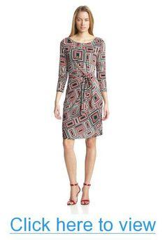 Anne Klein Women's Geo Print Wrap Dress