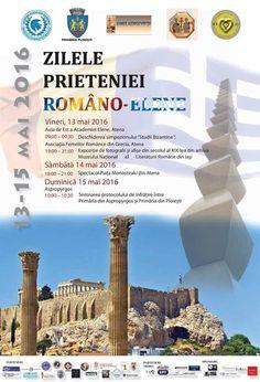 FESTIVALUL PRIETENIEI ROMÂNO-ELENE 13.05.2016 – 15.05.2016. TREI  ZILE CU MANIFESTĂRI ÎN ATENA ȘI ASPROPYRGOS