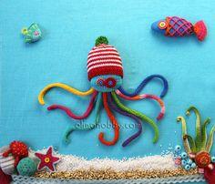 Вязаный осьминог