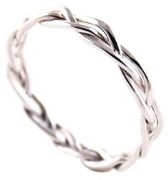 braided wedding band- THIS IS SO PERFECT! Simple enough to pair with the engagement ring, detailed enough to be unique.