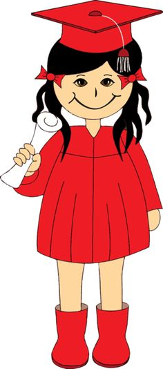 Get Creative with This Free Kids Clip Art!: Girl Graduate