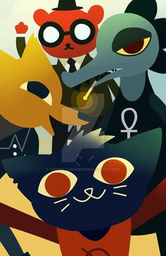 Night in the woods, the gang's all here!