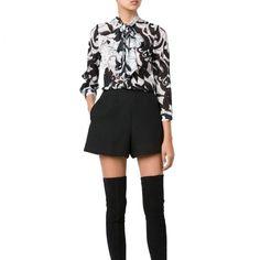 Alice + Olivia Decostroll Silk Blend Blouse | http://www.evachic.com/product/alice-olivia-decostroll-silk-blend-blouse/
