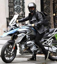 Orlando Bloom Rides 2013 BMW Bike wearing Belstaff Jacket | UpscaleHype