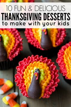 If you've exhausted the Thanksgiving crafts with your kids and feel like getting them involved in the kitchen so you can experiment with some new Thanksgiving recipes in time for your big family celebration, you are going to LOVE this collection of fun Thanksgiving desserts. We particularly love #s 3, 7, and 9!