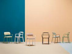 INTRIGO Chair with armrests by PEDRALI design Claudio Dondoli, Marco Pocci