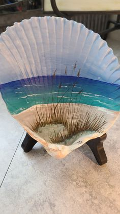 Seashell Painting, Seashell Art, Seashell Crafts, Beach Crafts, Pebble Painting, Pebble Art, Oyster Shell Crafts, Seashell Projects, Sea Glass Crafts
