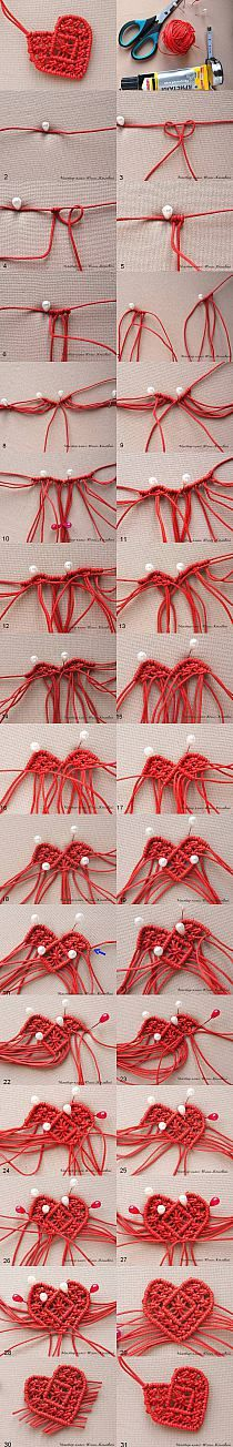 DIY Macrame Braided Heart DIY Projects | UsefulDIY.com