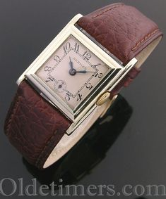 c3391c73a757 1920s 18ct gold square vintage Hermes watch (3783) - Olde Timers Old  Watches,