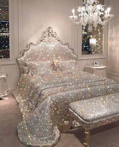 My dream bedroom. Dream Rooms, Dream Bedroom, Room Decor Bedroom, Girls Bedroom, Royal Bedroom, Blue Bedrooms, Girl Bedroom Designs, My New Room, My Room