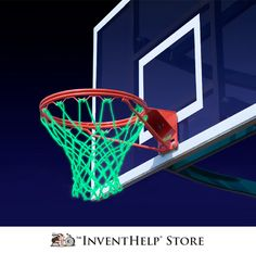 Nite Hoops, a glow-in-the-dark net that makes it easy to play basketball when little or no light is available. Available at inventhelpstore.com.