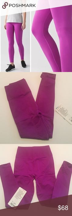 *Lululemon* Lululemon zone in tight in a purple-pink color, brand new with tags size 6 lululemon athletica Pants Track Pants & Joggers