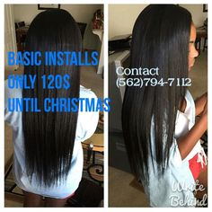 LADIES the holidays are here doing basic installs for 120 until Christmas every Thursday thru Saturday. This includes a net braiding installing trimming or layering and styling of your choice. For pricing and booking contact me (562)794-7112! Let's get it. BRING IN 3 friends and you'll get your install FREE! Spread the word #lahair #coronahairstylist #installdeals #cosmetologist #extensionspecialist #itslit #dealsondeals #bookyourappointmentsnow by liyahhtajaa_