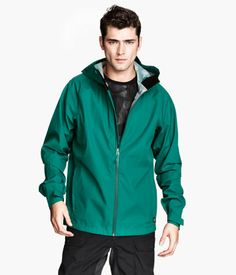 H&M Shell Jacket in Green- $30  I need a good waterproof wind-breaker for the island