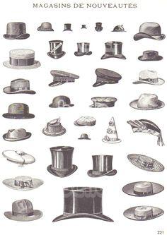 Vestuário - chapéus