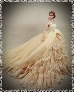 """PKPP-93 Princess Wedding Gown dress outfit for FASHION ROYALTY SILKSTONE 12"""""""