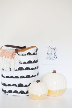 DIY Gold Leaf Dipped Pumpkins