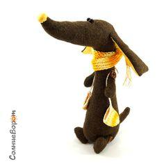 Тарантасик - коричневый,такса,таксы,собака,собачка,пес,оранжевый,авторская работа