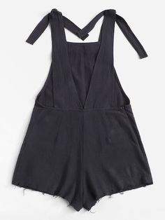 Self Tie Raw Hem Pinafore Romper -SheIn(Sheinside) Look Fashion, Kids Fashion, Fashion Outfits, Pretty Outfits, Cute Outfits, Hoodies For Sale, Clothing Patterns, Diy Clothes, Baby Dress