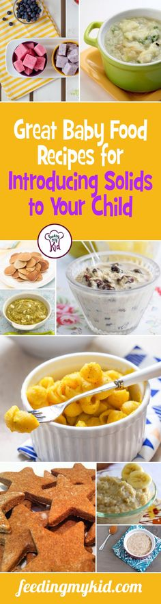 Great Baby Food Recipes for Introducing Solids to Your Child - Great Baby Food Recipes for Introducing Solids to Your Child - This is a must pin! When it comes to starting your child out on food, remember that according to the World Health Organization (WHO), kids can start eating foods by 6 months. However, recent researchers has suggested that there is a window between 4 to 7months, where introducing foods can help stave off picky eating. This is a must share! #fmk #firstfoods #babyfood #f...