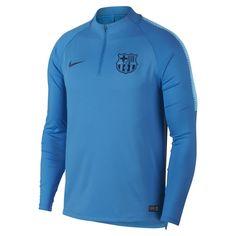 71d1e0fba FC Barcelona Dri-FIT Squad Drill Men s Long Sleeve Soccer Top. Barcelona  MerchandiseFootball TopsSoccer FansJersey ShirtBlue ...