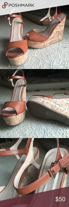 37b36e943afe ASOS Cork Wedge Heels Size 9. NWOT. Size Sticker on bottom still . Asos