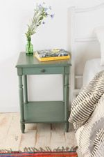 Genevieve Side Table in Teal at Urban Outfitters ~ Love the color