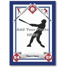 Baseball card templates free blank printable for Baseball card size template