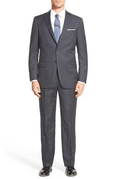 Hart Schaffner Marx 'New York' Classic Fit Windowpane Check Wool Suit