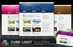CubeLight Business Portfolio WordPress Theme