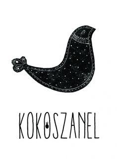 KOKO SZANEL - PLAKAT ILUSTROWANY (BASIC) od Ananas Design