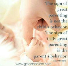 The sign of great parenting is not the child's behavior... ❤