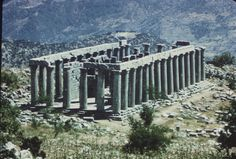 Temple of Apollo Epikourios, Bassae, 400 BC Historical Architecture, Ancient Architecture, Corinthian Order, Ancient Greek Theatre, Classical Period, Ancient Greece, Columns, Apollo, Temples