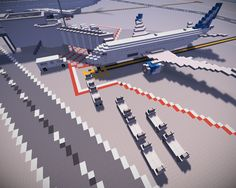 A photograph of a plane in the airport on the estleron sever taken by Wacky #minecraft