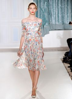 this dress makes me excited for spring. erdem s/s 2012