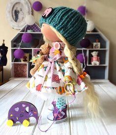 Handmade Doll-Textile Doll-Fabric Doll-Rag by DaryaJavnerikDolls