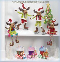 Pastel Christmas Decorating Ideas | Candy Christmas Decorations 2013 RAZ Chocolate Moose