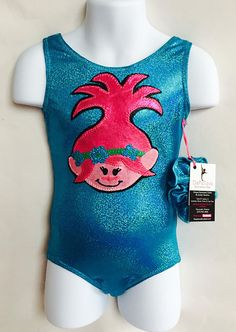 970476cb90dc Trolls Princess Poppy Inspired Gymnastics Leotard MADE TO Gymnastics Party, Gymnastics  Leotards, Princess Poppy