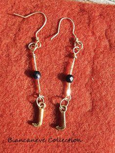 orecchini wire in filo di rame dorato : Orecchini di ibottonidibiancaneve