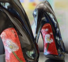 Art By BAMF custom painted shoes starting at $100 ArtByBAMF on fb! Pin Up girl shoes, one of a kind, pretty, hot, sexy!