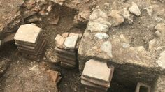 """A hot room and bath suite have been found in a Roman town house owned by someone """"of great wealth"""". Roman Bath House, Chichester, Town House, Archaeology, England, Park, History, Historia, Terraced House"""