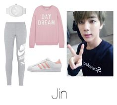 """Dance Practice with Jin"" by btsoutfits ❤ liked on Polyvore featuring Zoe Karssen, NIKE, adidas and adidas Originals"