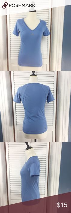 """Adidas Clima 365 Shirt Adidas Clima 365 Shirt. Short sleeve. Material: 100% polyester, v-neck. Approximate measurements (measured flat): bust: 14.5"""", length: 23"""". Excellent used condition. No signs of wear. Adidas Tops"""