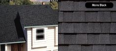 Best Dark Roof Tan Siding Certainteed Landmark Charcoal Black 400 x 300